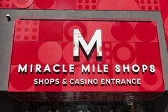 The Miracle Mile Shops Sign in Las Vegas, NV on May 20, 2013 Royalty Free Stock Photography