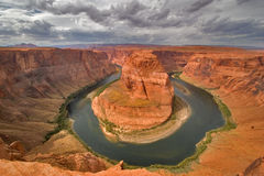 Miracle of the nature. An abrupt bend of the river Colorado in state of Utah in the USA Royalty Free Stock Images