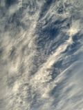 Miracle Sky View. Miracle Winter Sky View. Amazing Sky Texture. Magic Picturesque Cloudy Background royalty free stock photography