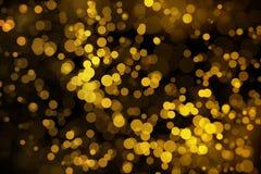 Miracle spot golden bokeh Royalty Free Stock Photo
