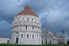 Miracle square with basilica and pisa tower Royalty Free Stock Images