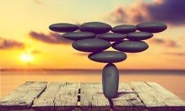 Miracle. Stone Balance Japanese Culture Eternity Art Zen-like stock photos