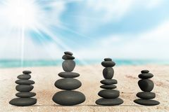 Miracle. Stone balance japanese culture eternity art zen-like stock photography