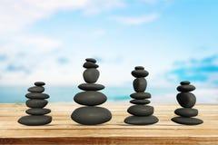 Miracle. Stone balance japanese culture eternity art zen-like stock image