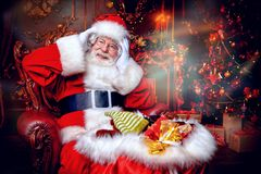 Miracle time with santa stock photos