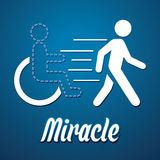 Miracle walk man. Illustration graphic vector Stock Photos
