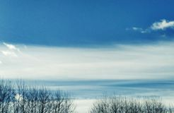 Miracle Sky View. Miracle Winter Sky View. Amazing Sky Texture. Magic Picturesque Cloudy Background stock image