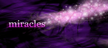 Miracles background website banner Royalty Free Stock Images