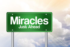 Miracles Green Road Sign Royalty Free Stock Photos