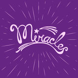 Miracles. Hand drawn lettering. Stock Images