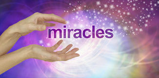 Free Miracles Happen Background Stock Images - 95610714