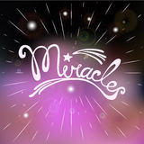 Miracles. Lettering. Motivated words Royalty Free Stock Photos