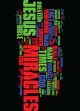 Miracles What The Bible Has To Say About Them Text Background Word Cloud Concept Royalty Free Stock Image
