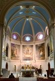 Miraculous Medal Shrine Sanctuary in Philadelphia. The sanctuary of the Miraculous Medal Shrine in Philadelphia`s Germantown section.  This Catholic Church is Stock Image