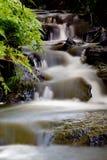 Miraculous woodland cascade. Background of wonderful woodland cascade royalty free stock photos