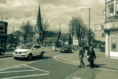 Mirada abajo de la calle principal en reyes Heath Foto de archivo libre de regalías