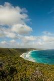 Mirada abajo de la costa costa de Australia occidental del observatorio Imagenes de archivo