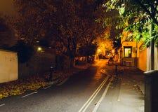 Mirada abajo de la esperanza Chapel Hill Bristol por la noche A Fotos de archivo libres de regalías