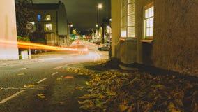 Mirada abajo de la esperanza Chapel Hill Bristol por la noche B Foto de archivo