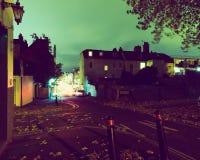 Mirada abajo de la esperanza Chapel Hill y camino Bristol de Hotwell por noche Fotos de archivo libres de regalías