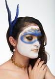 Mirada abajo de mujer con arte de cuerpo Imagen de archivo libre de regalías
