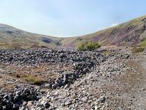 Mirada abajo del área del valle de la papada de los palillos al paso Foto de archivo libre de regalías