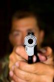 Mirada abajo del barril de un arma Imagen de archivo libre de regalías