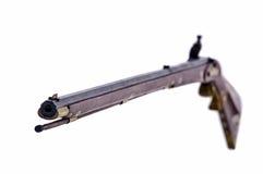 Mirada abajo del barril de un rifle del polvo negro Imagen de archivo