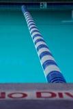 Mirada abajo del carril de natación Imagen de archivo libre de regalías