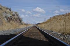 Mirada abajo del ferrocarril de Great Salt Lake Fotos de archivo libres de regalías