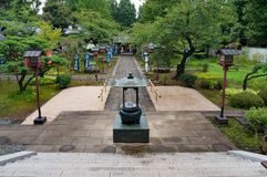 Mirada abajo del parque de templo de Ryodaishi Imágenes de archivo libres de regalías