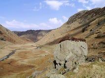 Mirada abajo del valle de Langstrath Imagenes de archivo