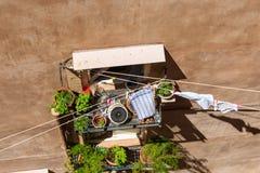 Mirada abajo en alguna parte en Dubrovnik Foto de archivo libre de regalías