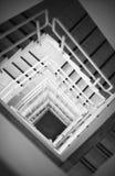 Mirada abajo en la escalera Imagen de archivo libre de regalías