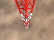 Mirada abajo en la torre Fotografía de archivo libre de regalías