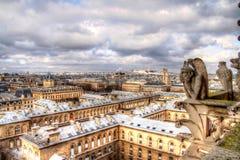 Mirada abajo en París Fotos de archivo libres de regalías