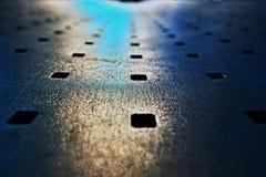 Mirada abstracta del banco del metal Fotografía de archivo libre de regalías