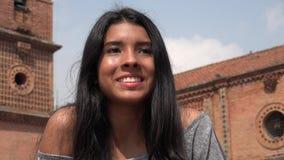 Mirada adolescente emocionada de la muchacha Imágenes de archivo libres de regalías