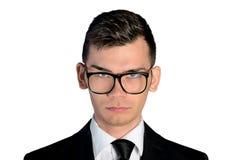Mirada agujereada del hombre de negocios Imagen de archivo