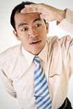 Mirada asiática del hombre de negocios Foto de archivo