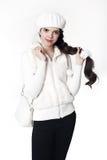 Mirada blanca adolescente del estilo de la moda La chica joven de moda lleva la piel Fotos de archivo libres de regalías
