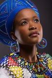 Mirada de la muchacha del Zulú foto de archivo