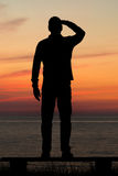 Mirada de la puesta del sol Fotografía de archivo