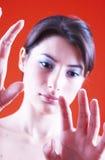 Mirada de mis manos Foto de archivo libre de regalías