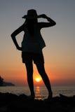 Mirada de puesta del sol Fotos de archivo libres de regalías