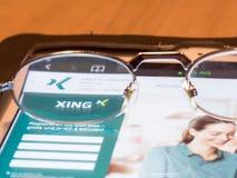Mirada de Xing Imagen de archivo libre de regalías