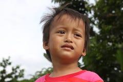 Mirada del muchacho triste Imagenes de archivo