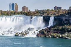 Mirada del viaje de las cascadas de Niagara Falls imagen de archivo libre de regalías