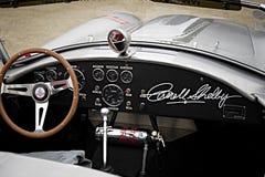 Mirada dentro de una cobra de la CA de Carroll Shelby 427 Imágenes de archivo libres de regalías
