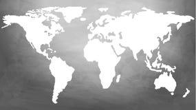 Mirada en futuro a través del último esquema del mapa del globo de Digitaces libre illustration